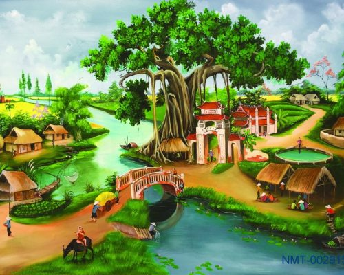 Tranh Đồng Quê 3D