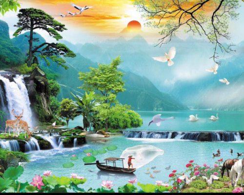 Tranh 3D Sơn Thủy Hữu Tình Hải Dương